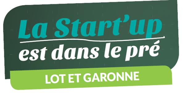 """Logo """"La startup est dans le pré"""" - édition Lot-et-Garonne"""